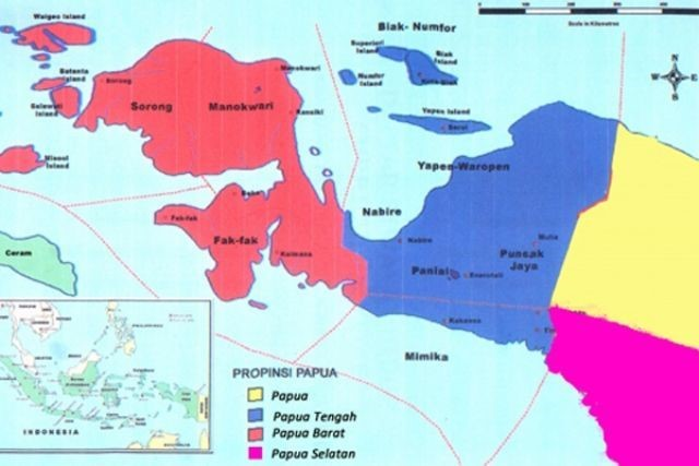 Map of the West Papua